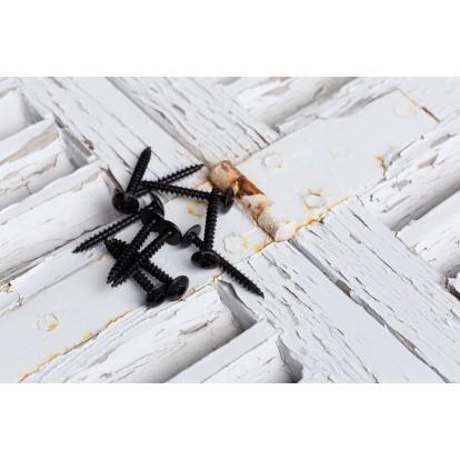 Vis spéciale penture tête étoilée acier zingué noire - 6x40 - 10 pces - FixPro