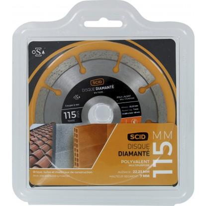 Disque diamanté polyvalent matériaux SCID - Diamètre 115 mm