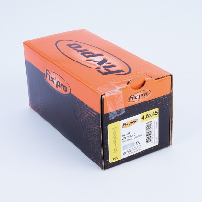 Vis à bois tête fraisée PZ - 4,5x45 - 500pces - Fixpro