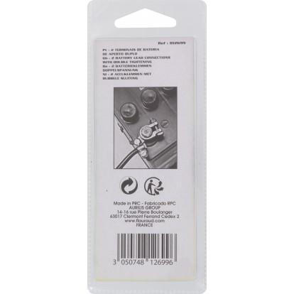 Cosse de batterie Altium - Double serrage laiton - Vendu par 2
