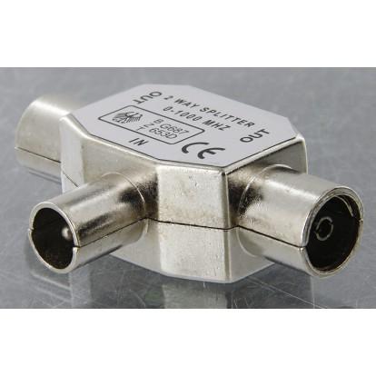 Repartiteur TV blindé diamètre 9,52 mm Dhome - 1 mâle / 2 femelles - Diamètre 9,52 mm