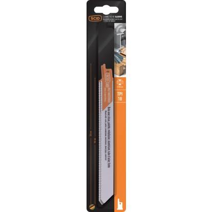 Lame de scie sabre classique bois et métaux SCID - Epaisseur 0,9 mm - Longueur 200 mm - Vendu par 2