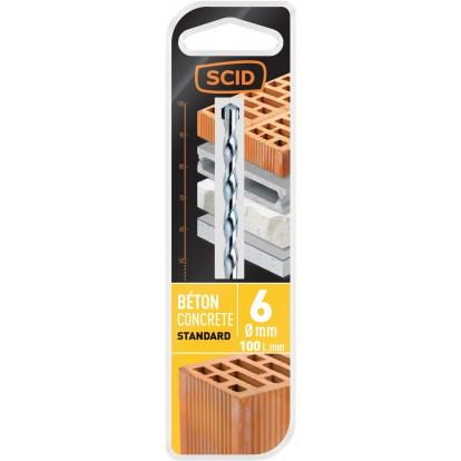 Foret béton std SCID - Longueur 100 mm - Diamètre 6 mm