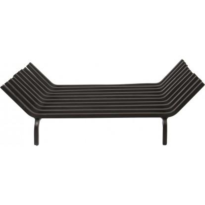 Porte-bûches acier forgé 10 barres PVM - Longueur 45 cm - Profondeur 38 cm
