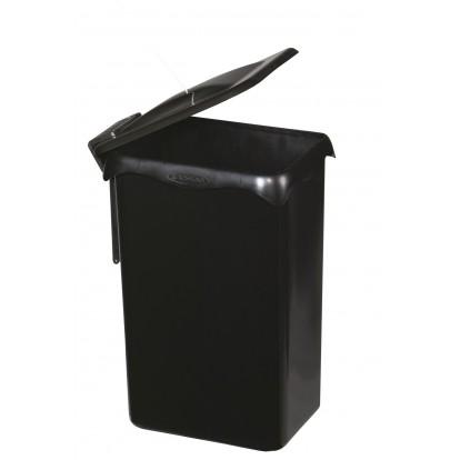 Poubelle porte sac automatique de placard 23 l Rossignol - Noir