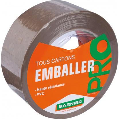 Ruban adhésif emballage Barnier - Longueur 100 m - Largeur 50 mm - Havane