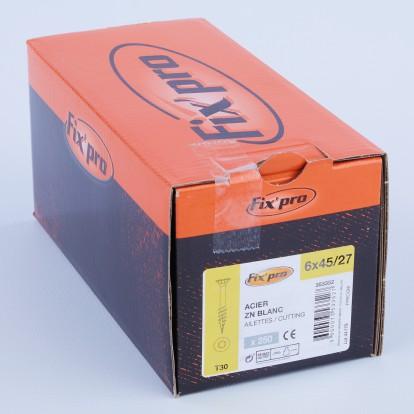 Vis à bois tête fraisée TX - 6x45/27 - 150pces - Fixpro