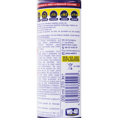 Huile multi-fonctions WD 40 - Aérosol 200 ml