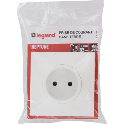 Prise 2P Legrand - Neptune - Blanc