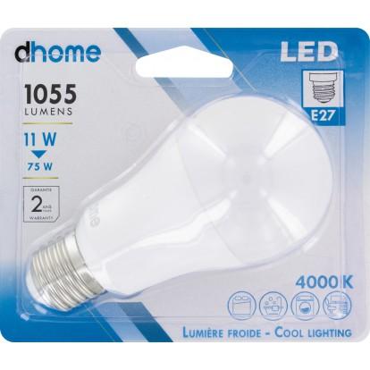 Ampoule LED standard E27 dhome - 1055 Lumens - 11 W - 4000 K