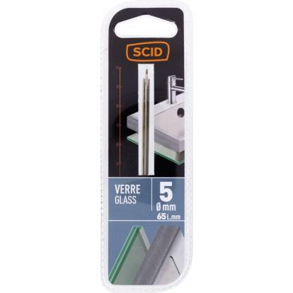 Foret à verre SCID - Longueur 65 mm - Diamètre 5 mm
