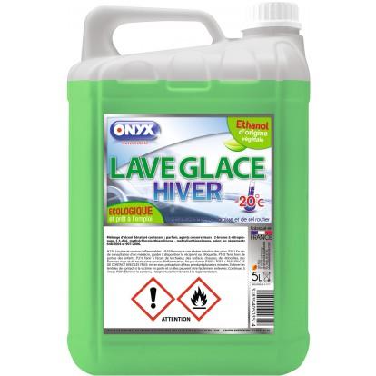 Lave glace écologique Onyx - Hiver jusqu'à -20°C - Bidon 5 l