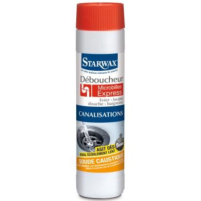 Déboucheur soude Starwax - Micro-billes - Flacon 500 g
