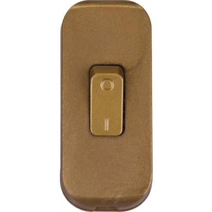 Interrupteur de fil souple 2 A Legrand - Vieil or
