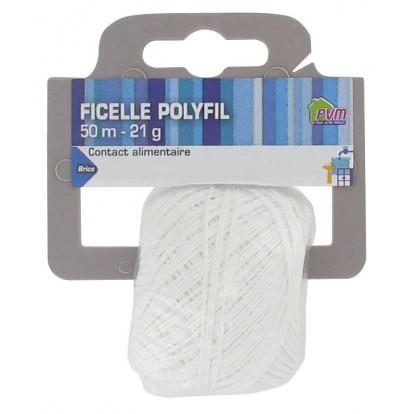 Ficelle alimentaire polyfil PVM - Longueur 50 m - Diamètre 0,5 - 0,8 mm