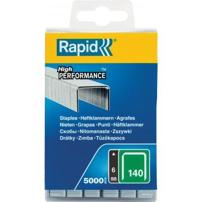 Agrafe n°140 Rapid Agraf - Hauteur 6 mm - 5000 agrafes