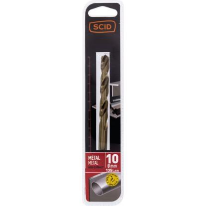Foret métal HSS cobalt SCID - Longueur 135 mm - Diamètre 10 mm