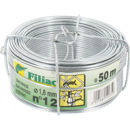 Fil galvanisé Filiac - Longueur 50 m - Diamètre 1,8 mm