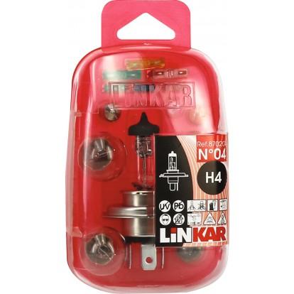 Coffret d'ampoules et fusibles pour véhicule Linkar - H4 ST