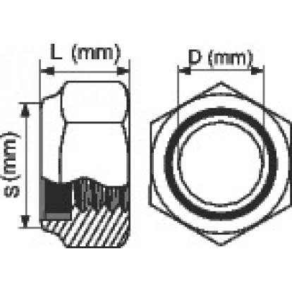 Écrou hexagonal indesserrable zingué - Ø 12 mm - Boîte de 100 - Viswood