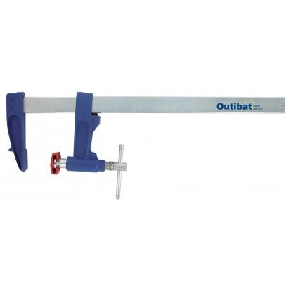 Serre-joint à pompe en fonte Outibat - Longueur 500 mm - Section 30 x 7 mm