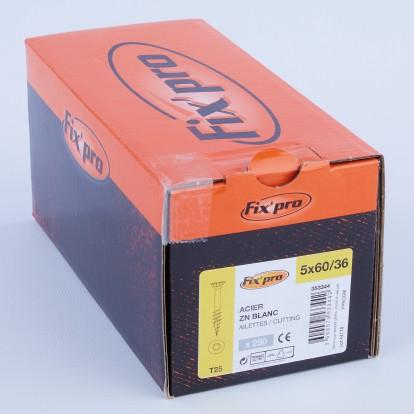 Vis à bois tête fraisée TX - 5x60/36 - 250pces - Fixpro