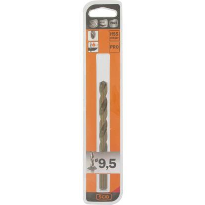 Foret métal HSS cobalt SCID - Longueur 128 mm - Diamètre 9,5 mm
