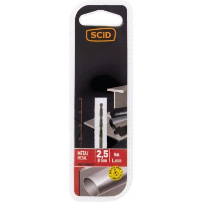 Foret métal HSS cobalt SCID - Longueur 56 mm - Diamètre 2,5 mm