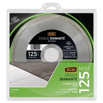 Disque diamanté carrelage universel SCID - Diamètre 125 mm