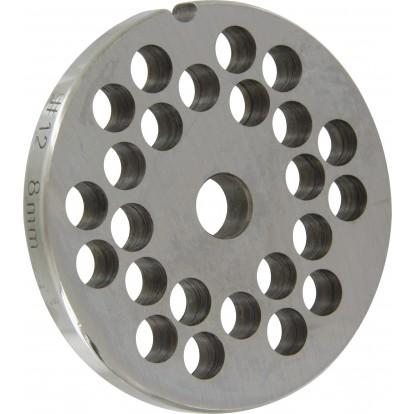 Grille acier Reber - Pour hachoir à viande n°12 - Grille 68 mm - Trou 8 mm