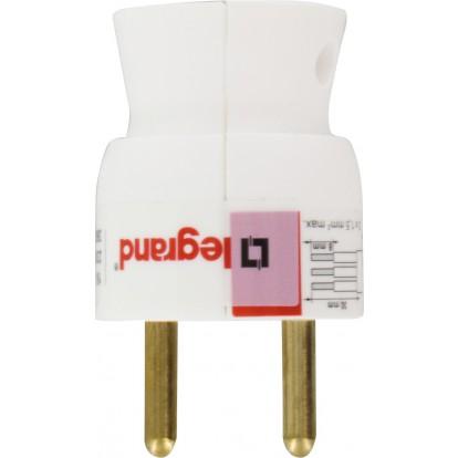 Fiches plastique 2P+T 16 A Legrand - Mâle - Sortie du câble par le dessous