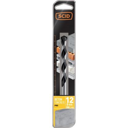 Foret béton pro SCID - Longueur 150 mm - Diamètre 12 mm