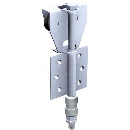 Ferrure pour porte à déplacement latéral pour panneaux de 50 kg Mantion Flot - Monture fixation sur plat - BOB 50