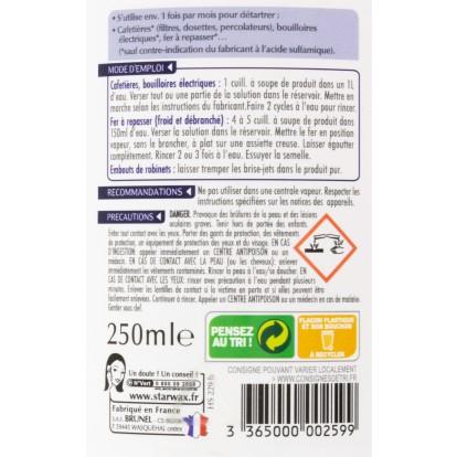 Détartrant appareils ménagers Starwax - Flacon 250 ml