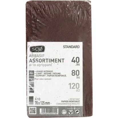 Patin auto-agrippant SCID - Grain 40, 80, 120 - Dimensions 70 x 125 mm - Vendu par 10