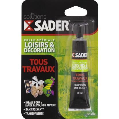 Colle tous travaux Sader - Tube 30 ml