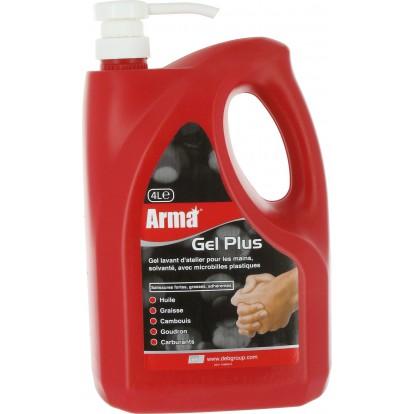 Savon gel microbilles Arma - Flacon pompe 4 l