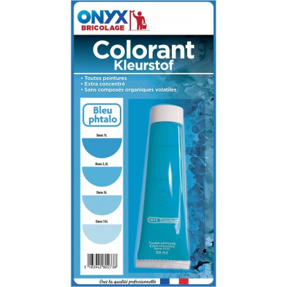 Colorant universel 60 ml Onyx - Bleu phtalo