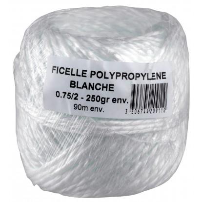 Ficelle polypropylène blanche Corderies Tournonaises - Longueur 90 m - Diamètre 2,7 mm