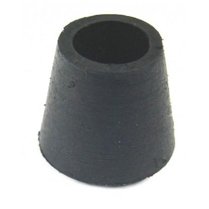 Embout enveloppant caoutchouc noir Shepherd - Diamètre 12 mm