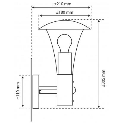 Applique Milo Ranex - Longueur 180 mm - Hauteur 305 mm