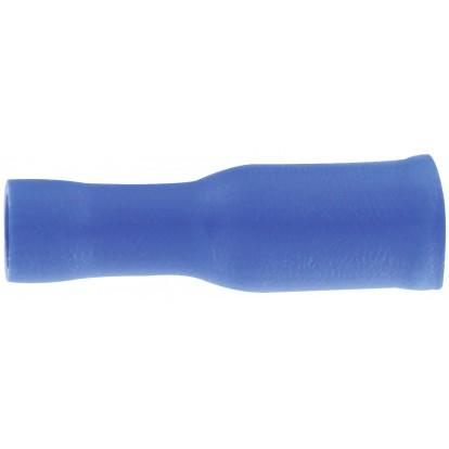 Fiche cylindrique Dhome - Femelle - Bleu - Diamètre 4 mm - Vendu par 10