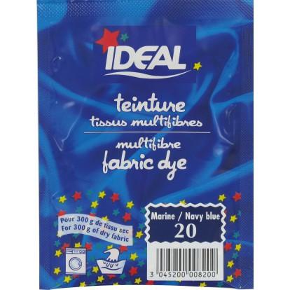 Teinture tissu main-machine Ideal - Sachet 15 g - Bleu marine n°20