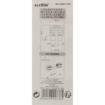 Fusibles enfichables et radio Altium - Vendu par 11