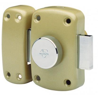 Verrou de sureté bouton et cylindre série Cyclop Vachette - Bronze - Longueur 30 mm