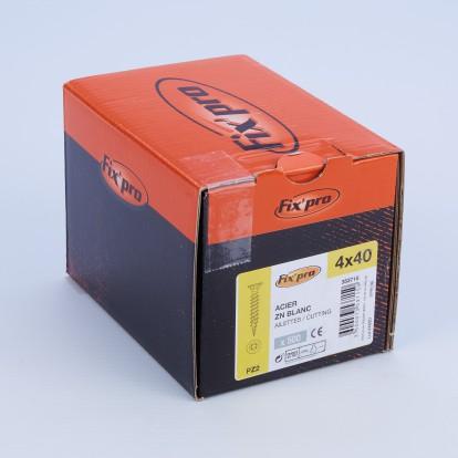 Vis à bois tête fraisée PZ - 4x40 - 500pces - Fixpro