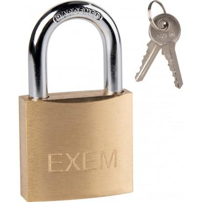 Cadenas laiton à clés - Exem - Largeur 30 mm - S'entrouvrant