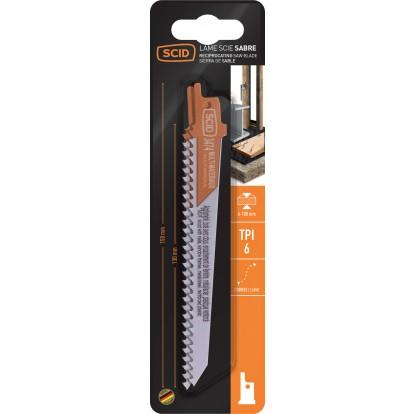 Lame de scie sabre classique bois et métal SCID - Epaisseur 1,27 mm - Longueur 150 mm - Vendu par 2