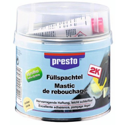 Mastic de rebouchage polyester Presto - 1 kg