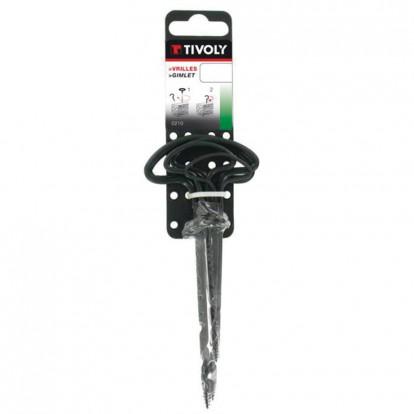 Vrille pour le bois Tivoly - Longueur 110 mm - Diamètre 2 mm